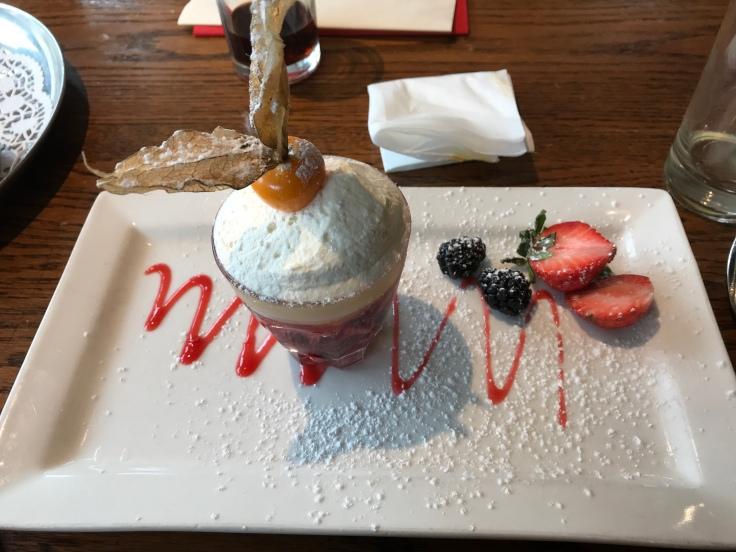 A trifle dessert