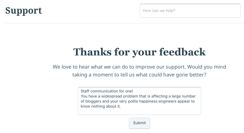 Feed back for wordpress
